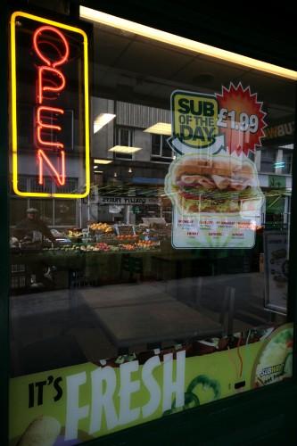 'fast food'. berwick st, soho, w1